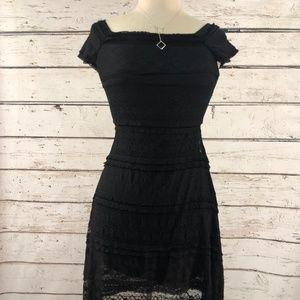 Max Studio Lace Black Mini Dress